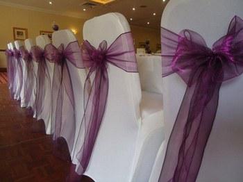 Housse et noeuds de chaise lycra blanche a partir de 1 - Noeuds de chaise mariage ...