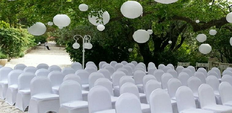Housse et noeuds de chaise lycra blanche a partir de 1 for Location eclairage exterieur